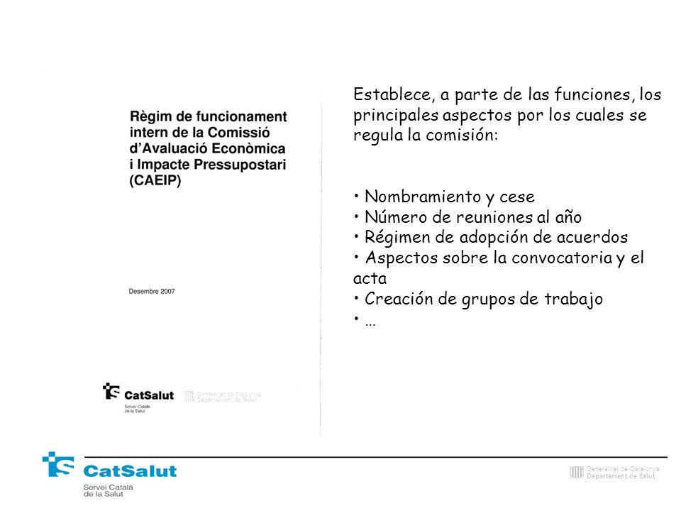Establece, a parte de las funciones, los principales aspectos por los cuales se regula la comisión: