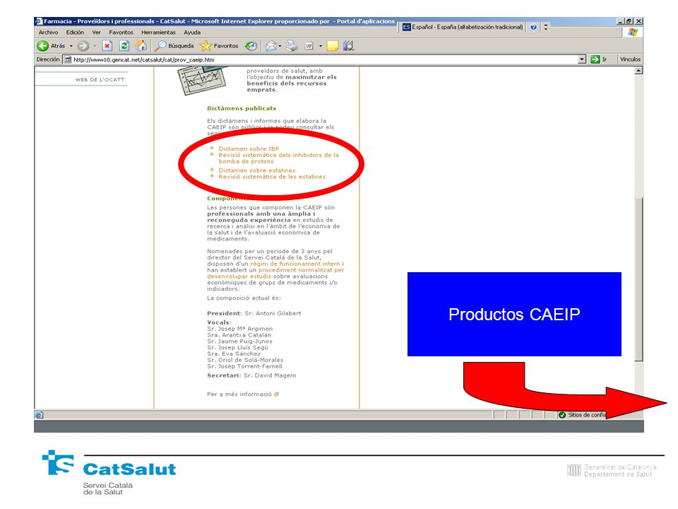 Productos CAEIP