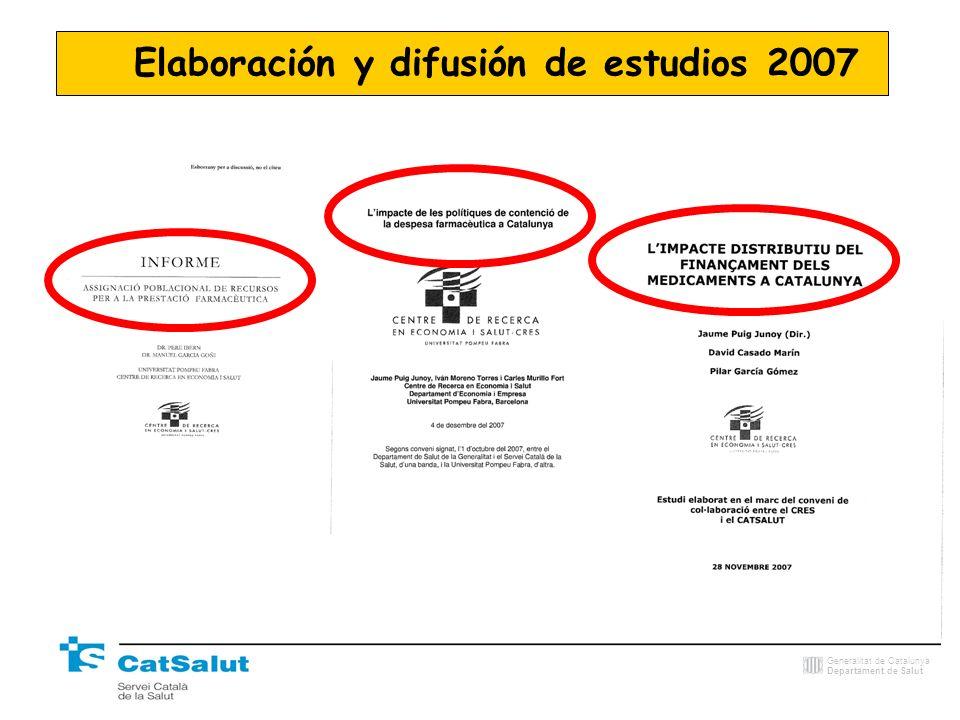 Elaboración y difusión de estudios 2007