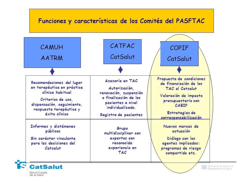 Funciones y características de los Comités del PASFTAC
