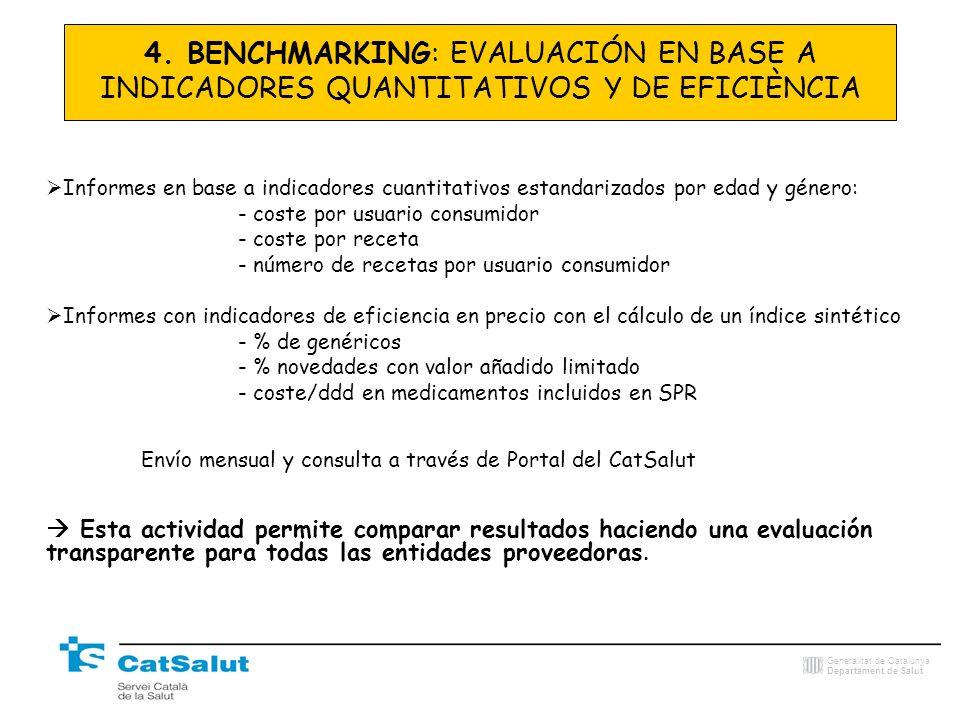 4. BENCHMARKING: EVALUACIÓN EN BASE A INDICADORES QUANTITATIVOS Y DE EFICIÈNCIA