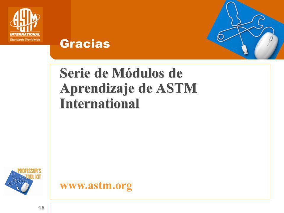 Serie de Módulos de Aprendizaje de ASTM International