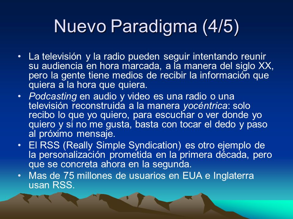 Nuevo Paradigma (4/5)