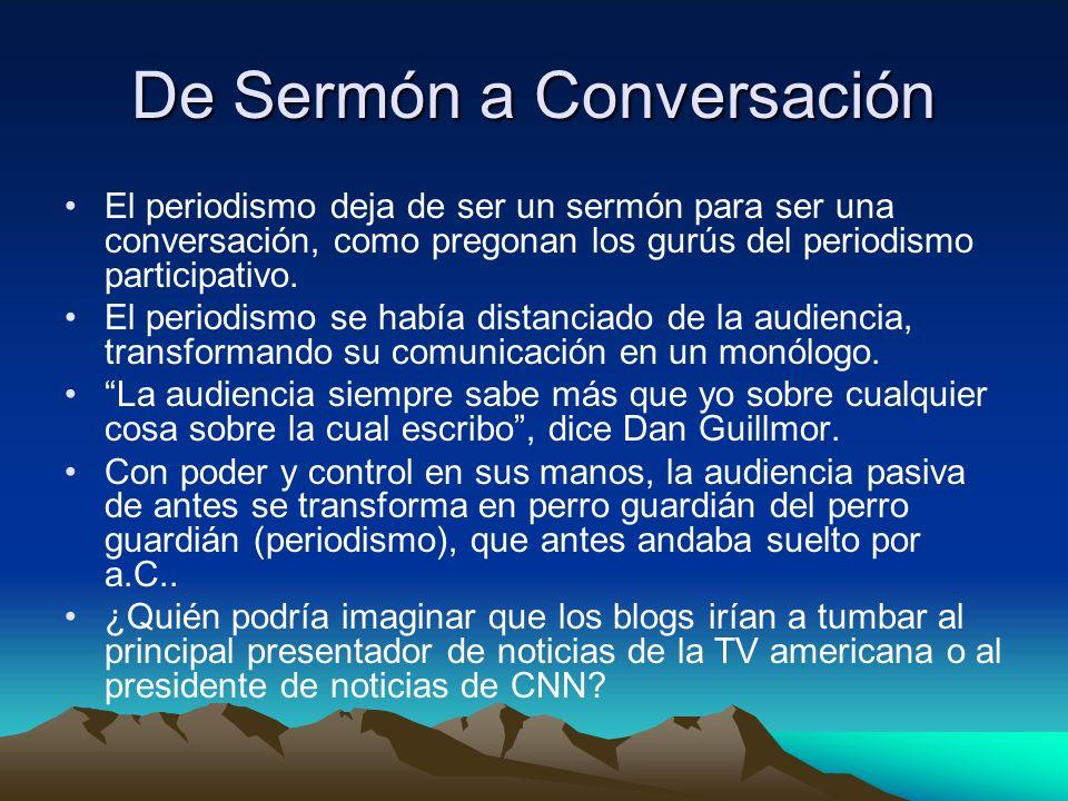 De Sermón a Conversación