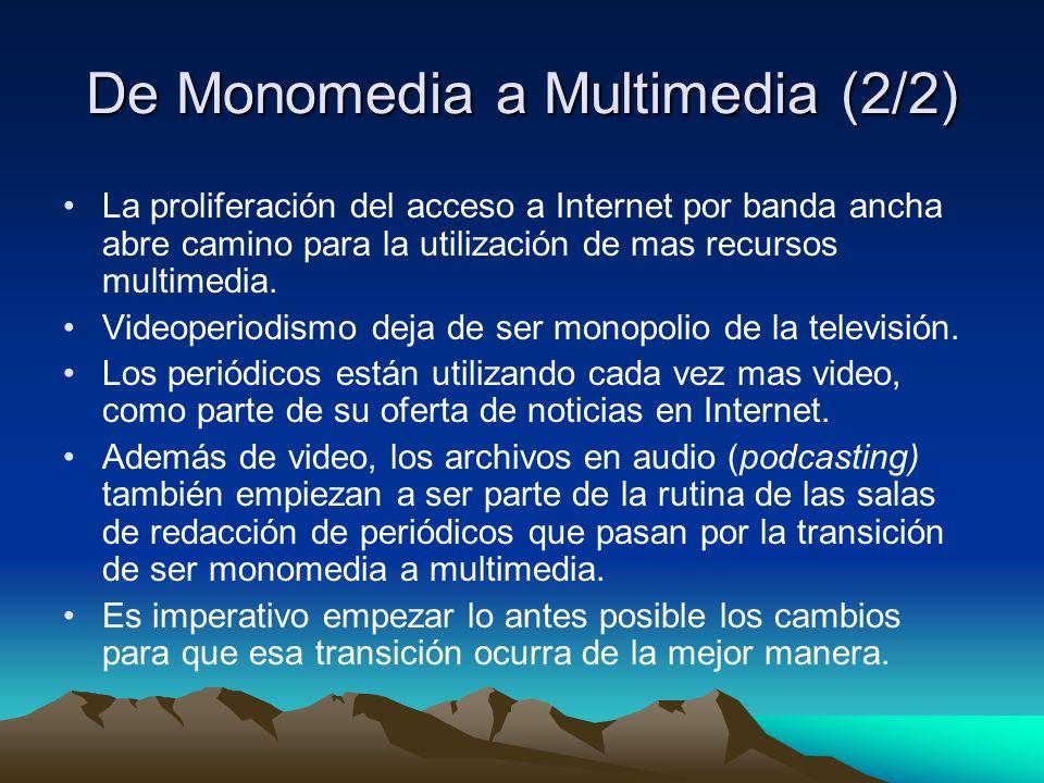 De Monomedia a Multimedia (2/2)