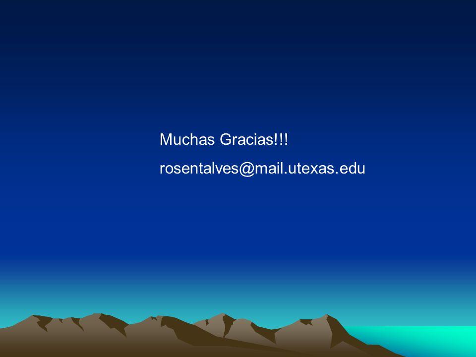 Muchas Gracias!!! rosentalves@mail.utexas.edu