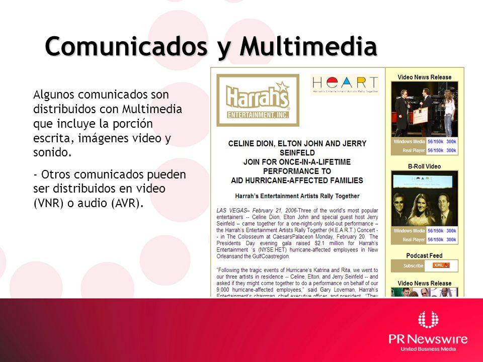 Comunicados y Multimedia