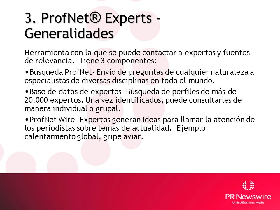 3. ProfNet® Experts - Generalidades