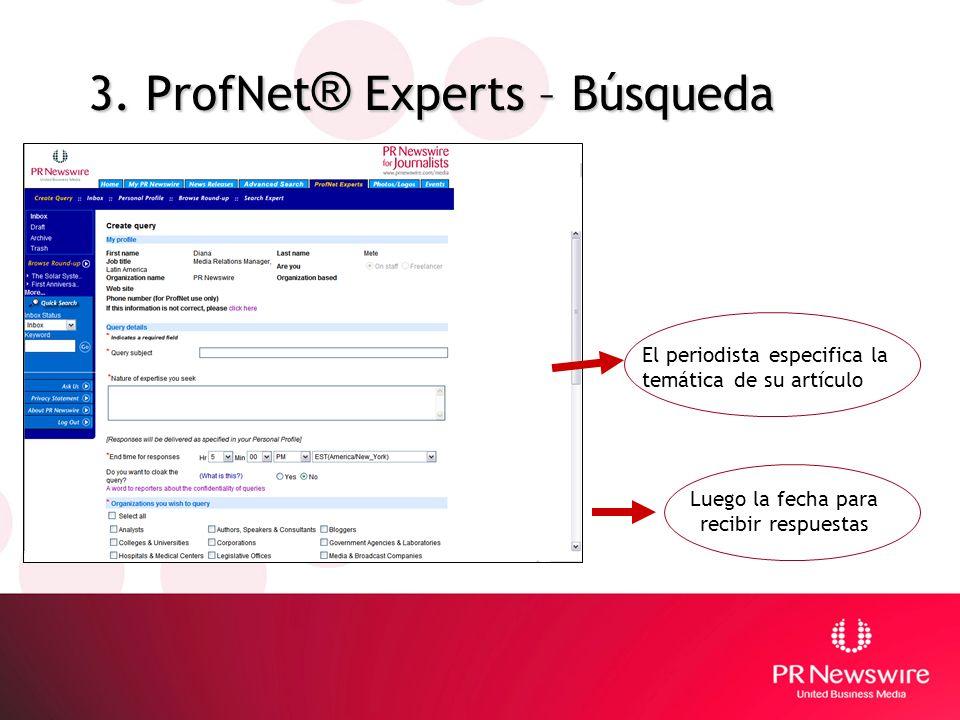 3. ProfNet® Experts – Búsqueda