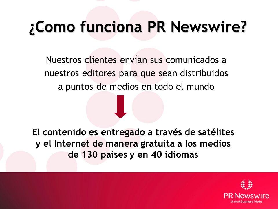 ¿Como funciona PR Newswire