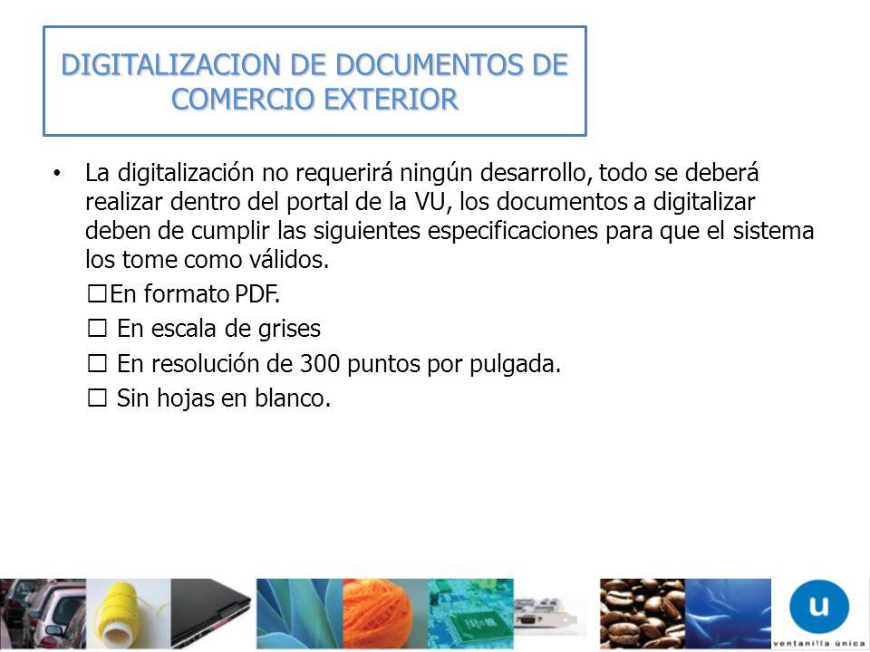 DIGITALIZACION DE DOCUMENTOS DE COMERCIO EXTERIOR