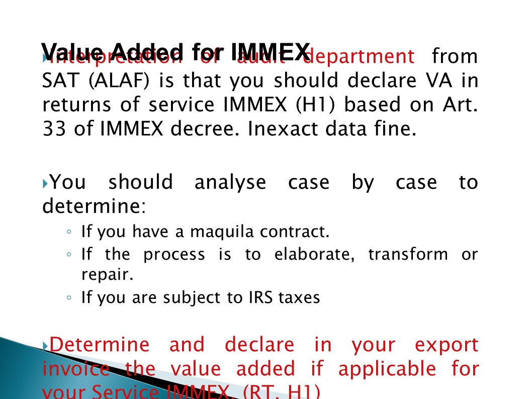 Value Added for IMMEX