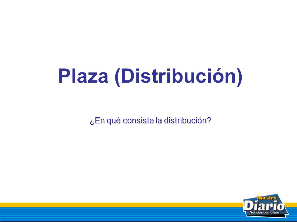 ¿En qué consiste la distribución