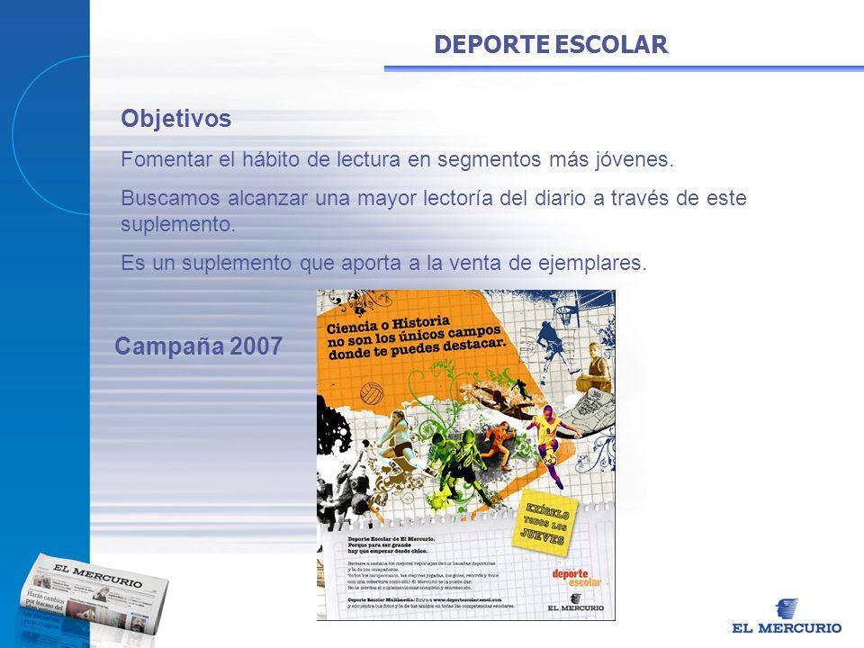DEPORTE ESCOLAR Objetivos Campaña 2007