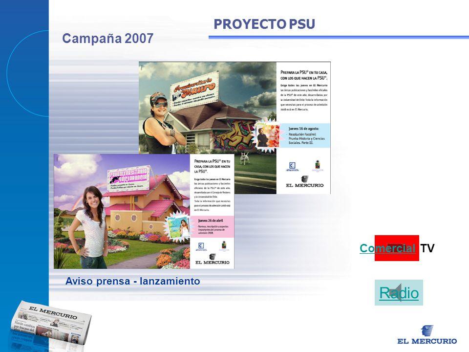 Radio PROYECTO PSU Campaña 2007 Comercial TV