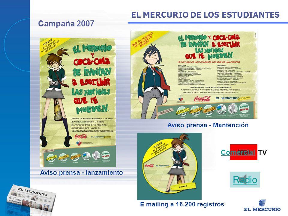 Radio EL MERCURIO DE LOS ESTUDIANTES Campaña 2007 Comercial TV
