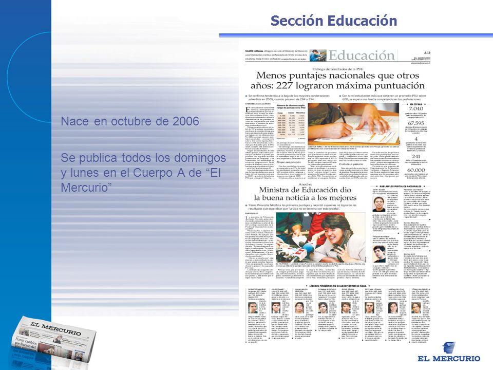 Nace en octubre de 2006 Sección Educación