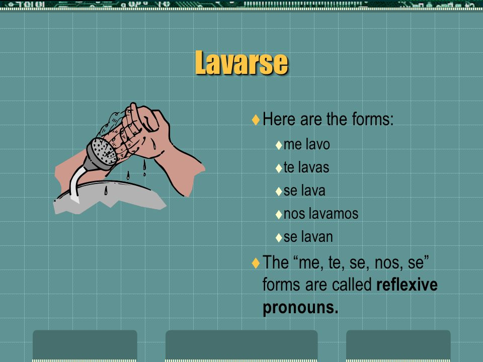 Lavarse Here are the forms: