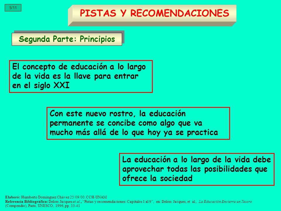 PISTAS Y RECOMENDACIONES Segunda Parte: Principios