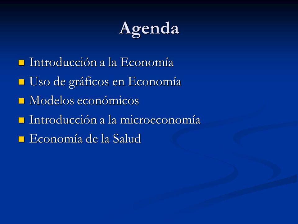 Agenda Introducción a la Economía Uso de gráficos en Economía