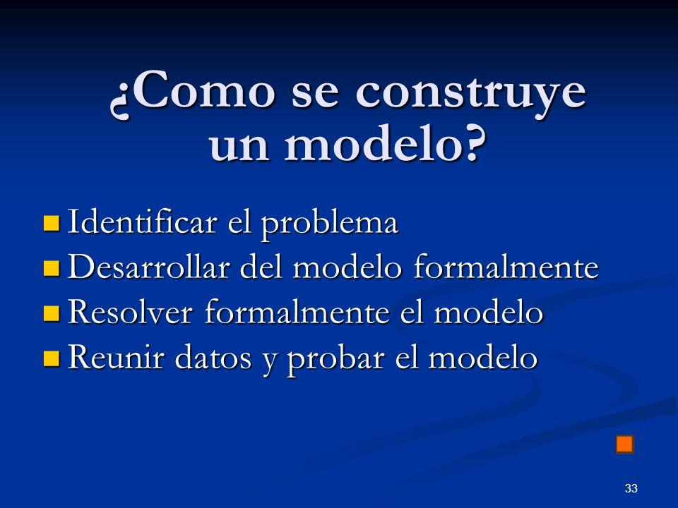 ¿Como se construye un modelo