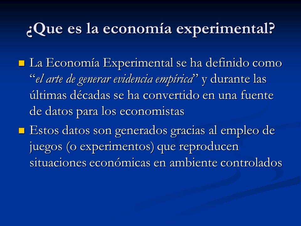 ¿Que es la economía experimental
