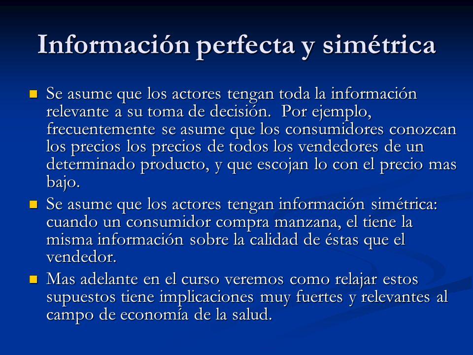 Información perfecta y simétrica