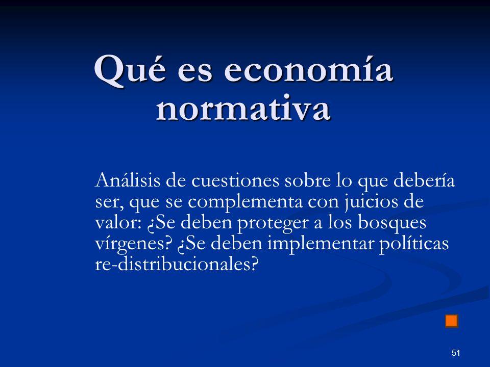 Qué es economía normativa