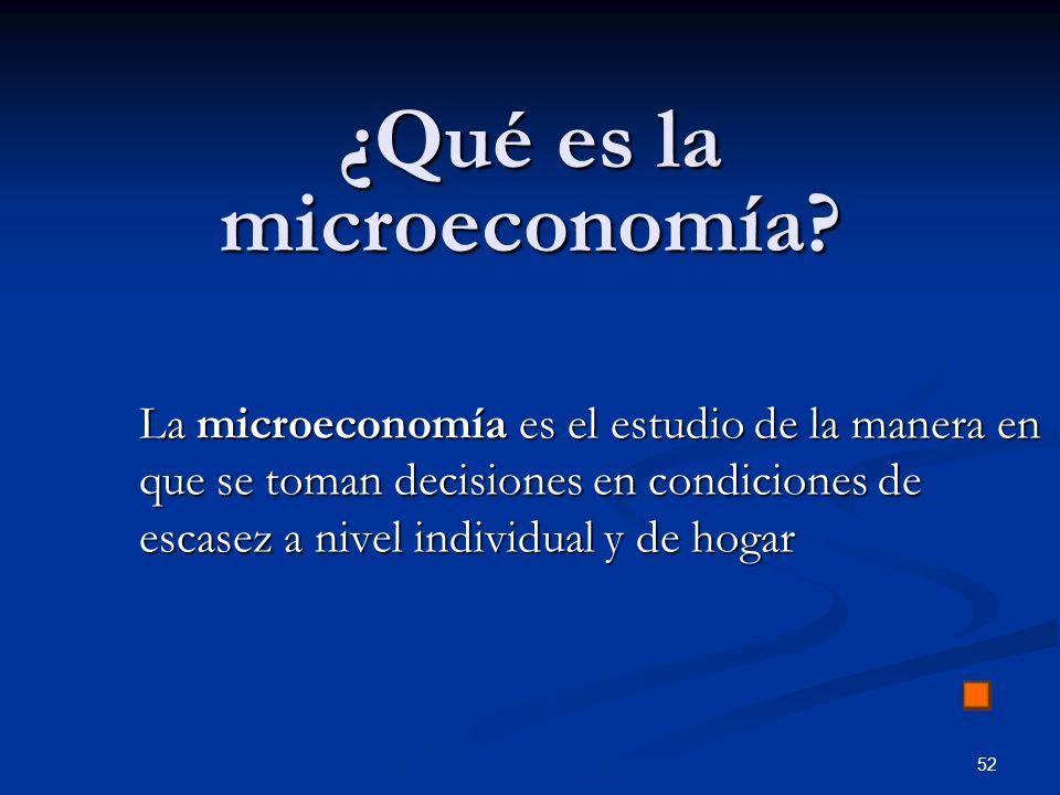 ¿Qué es la microeconomía