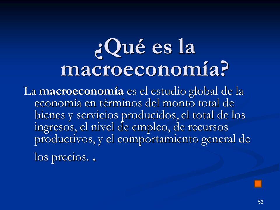 ¿Qué es la macroeconomía
