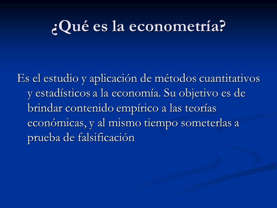 ¿Qué es la econometría