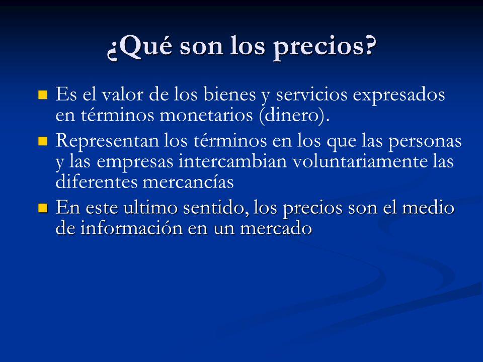 ¿Qué son los precios Es el valor de los bienes y servicios expresados en términos monetarios (dinero).
