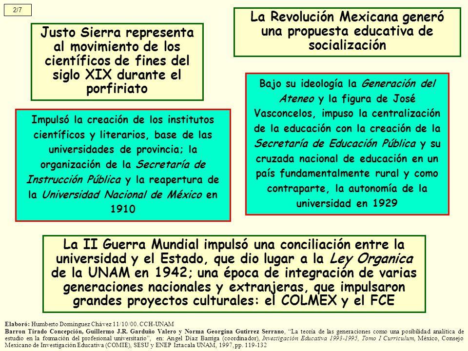 La Revolución Mexicana generó una propuesta educativa de socialización