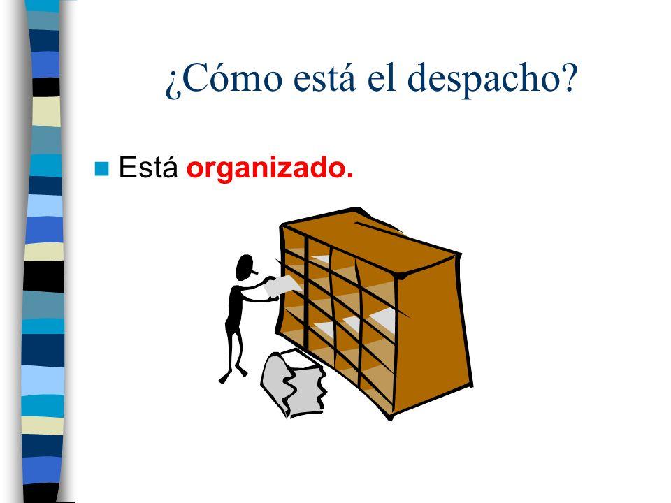 ¿Cómo está el despacho Está organizado.