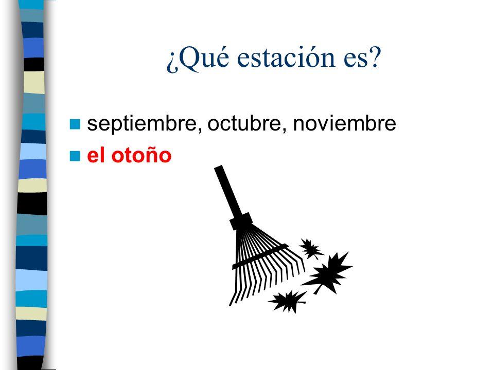 ¿Qué estación es septiembre, octubre, noviembre el otoño