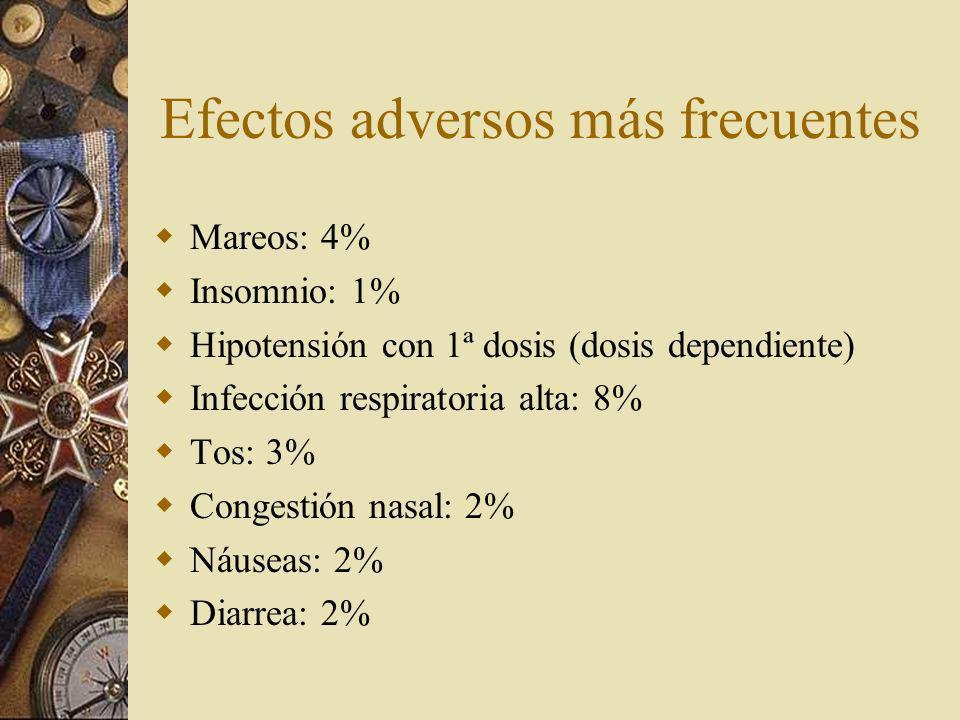 Efectos adversos más frecuentes