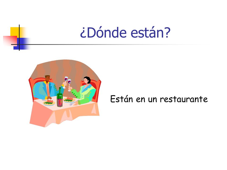 ¿Dónde están Están en un restaurante