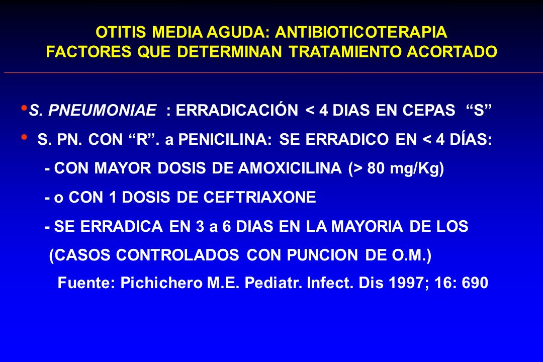 OTITIS MEDIA AGUDA: ANTIBIOTICOTERAPIA