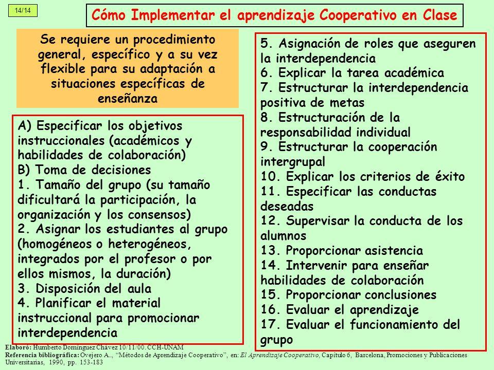 Cómo Implementar el aprendizaje Cooperativo en Clase