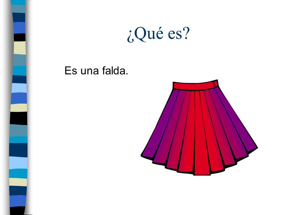 ¿Qué es Es una falda.