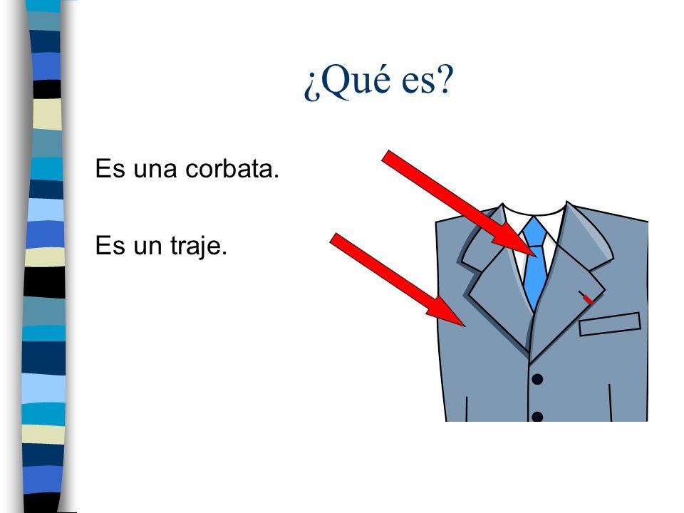 ¿Qué es Es una corbata. Es un traje.