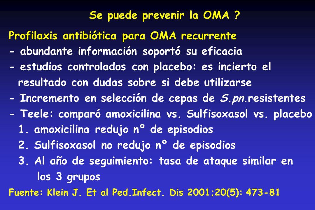 Se puede prevenir la OMA