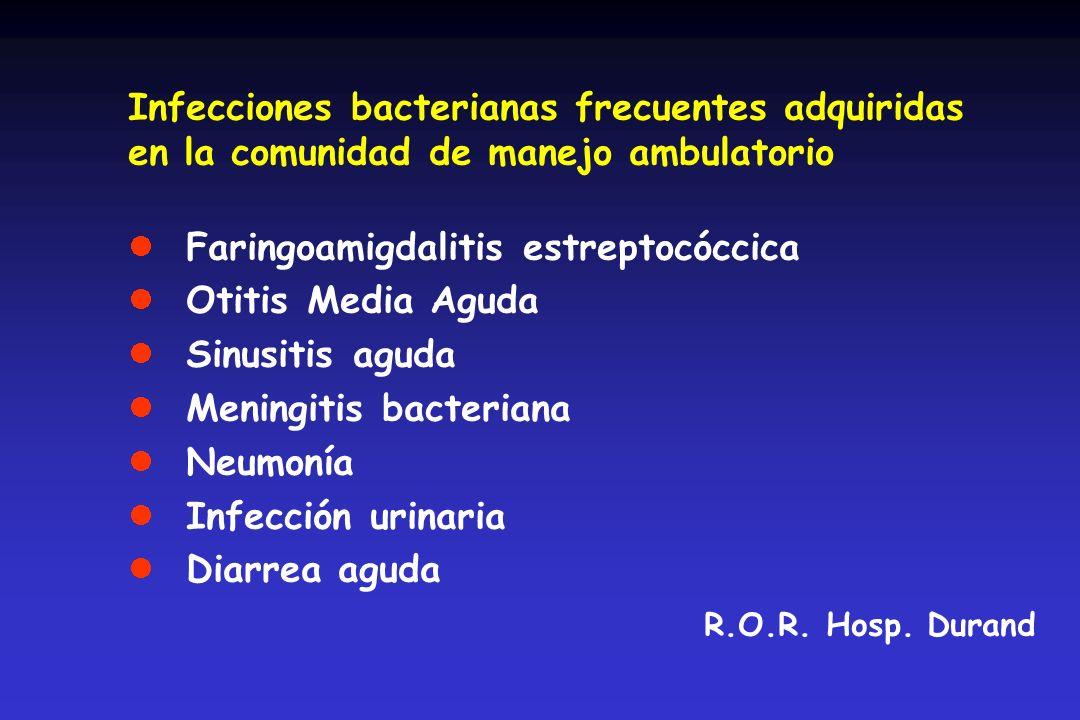 Infecciones bacterianas frecuentes adquiridas