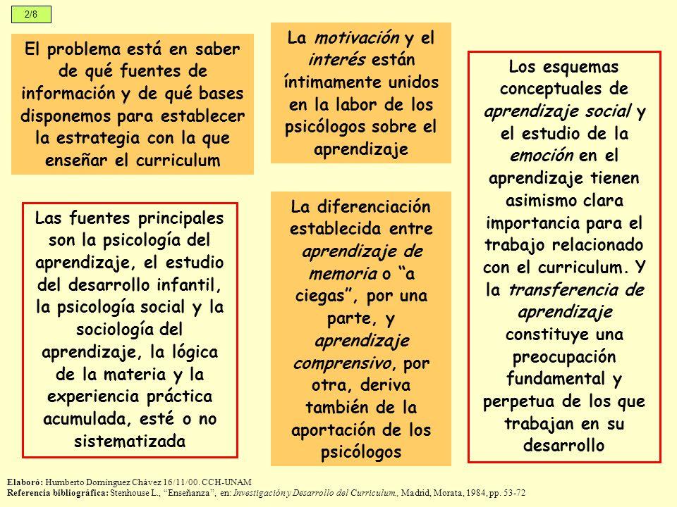 2/8 La motivación y el interés están íntimamente unidos en la labor de los psicólogos sobre el aprendizaje.