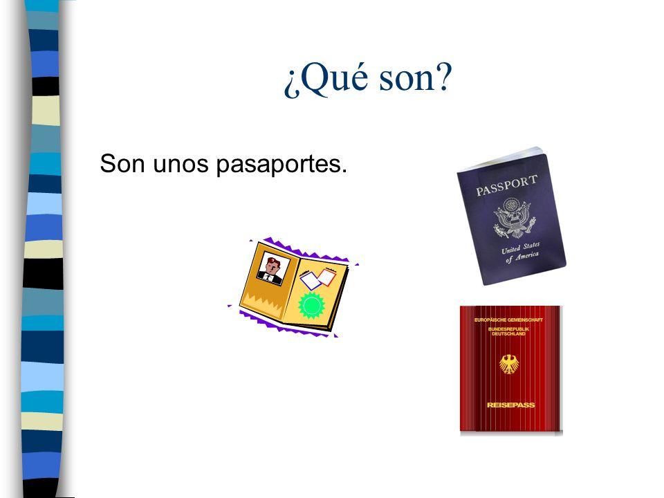 ¿Qué son Son unos pasaportes.