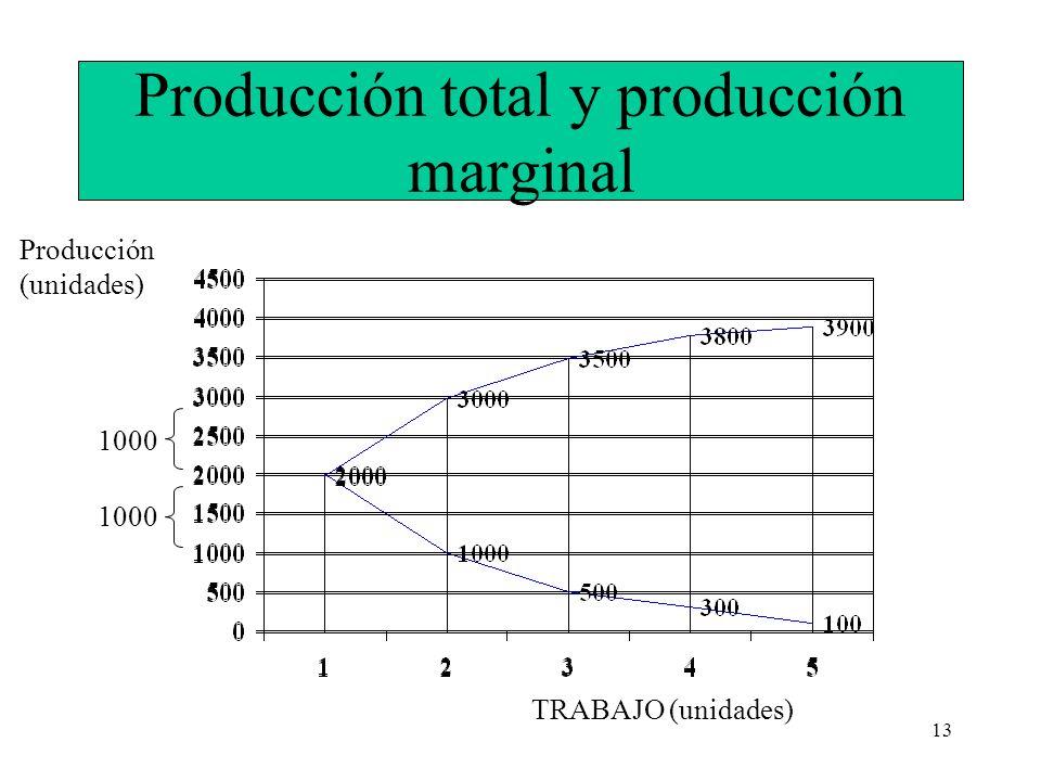 Producción total y producción marginal