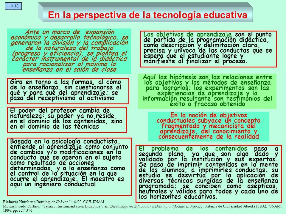 En la perspectiva de la tecnología educativa