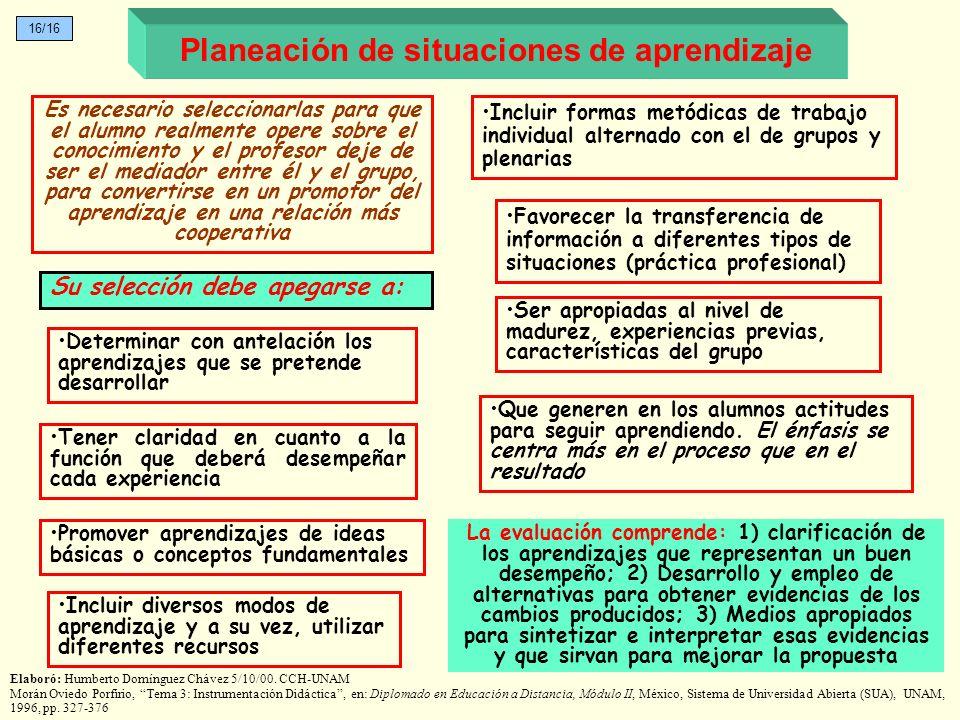 Planeación de situaciones de aprendizaje