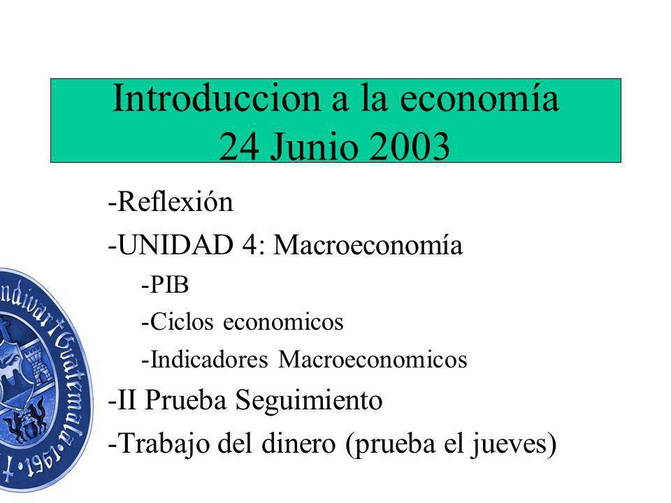 Introduccion a la economía 24 Junio 2003