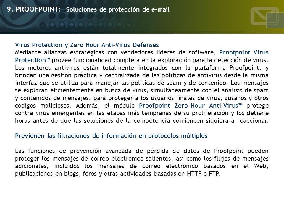 9. PROOFPOINT: Soluciones de protección de e-mail